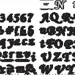 "Slightly Script 1/2"" Tall Upper/Lower Case - FS104"