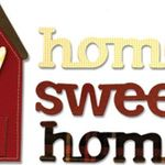 Sizzix BIGZ Scrapbooking Die Phrase, Home Sweet Home with House