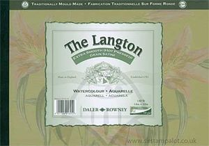 The Langton Extra Smooth Hot Pressed Grain - Watercolour Pad