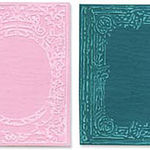 Sizzix Texture Fades Embossing Folders By Tim Holtz 2/Pkg - Book Covers