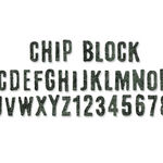 Sizzix Sizzlits Decorative Strip Alphabet Die - Chip block