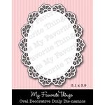 Die-namics Oval Decorative Doily