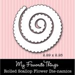Die-namics Rolled Scallop Flower